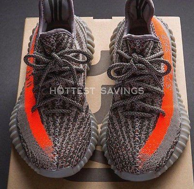 YEEZY'S BOOST 350 V2 SPLY SHOES - STEEL GREY- BELUGA SOLAR RED (LIMITE – HOTTEST SAVINGS