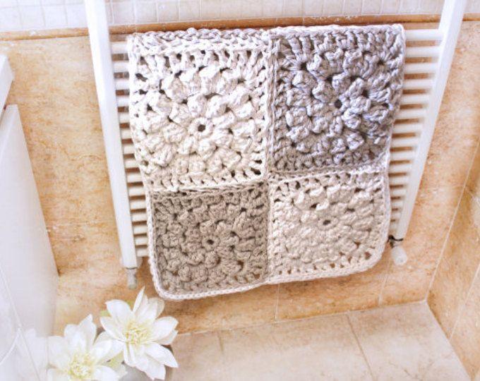 Scandinavian Rug Gray Bathroom Mat Grey Bathroom Rug Modern Crochet Rug Crochet Floor Rug Handmade Wedding G Crochet Rug Patterns Rug Pattern Crochet Rug