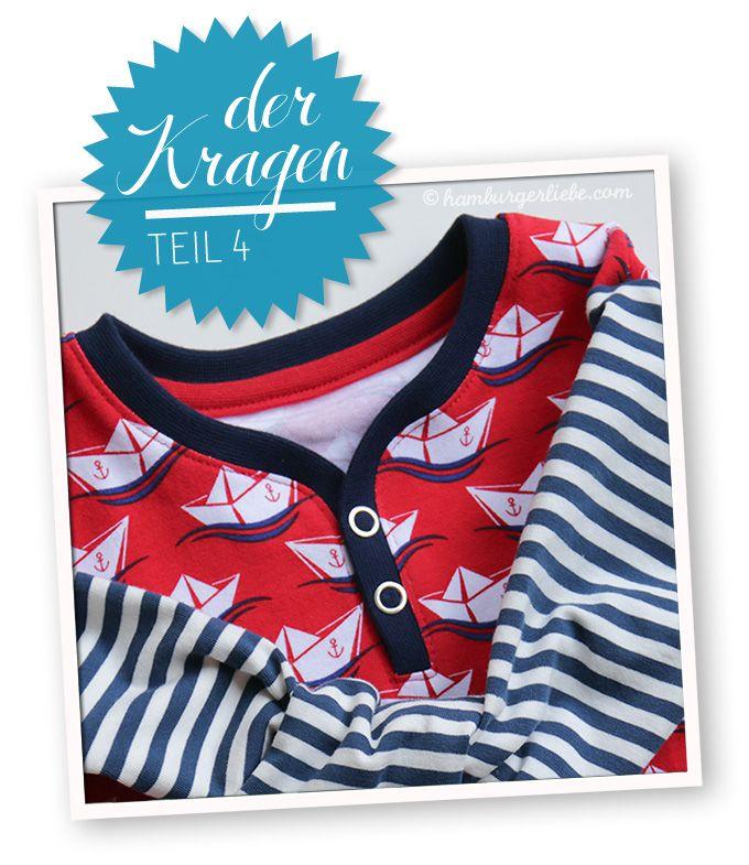 Tutorial Tuesday: Kleines Kragenlatein Teil 4, die Knopfleiste - Hamburger Liebe