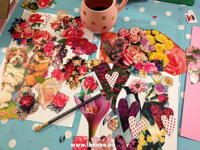 On my messy desk by iHanna #diypostcardswap #mailart