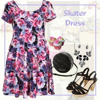Click here to purchase - Water Colour Floral Print Skater Dress - Plus Size 14, 16 and 18 - City Style Chic: http://www.citystylechic.com.au/new-arrivalswater-colour-floral-print-skater-dress  $37.50 AUD (free standard shipping within Australia)