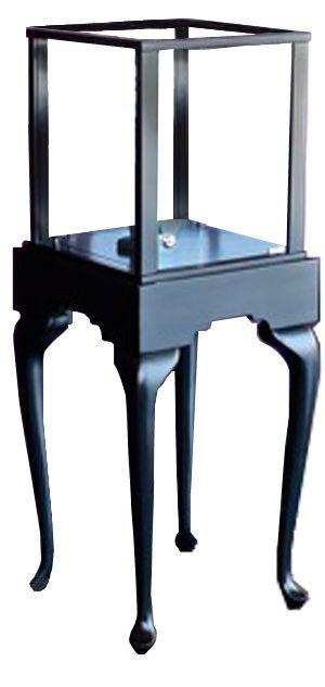 Queen Anne Half Vision Pedestal http://custom.display-smart.com/pedestal-display-cases/queen-anne-half-vison-pedestal-display-case.html