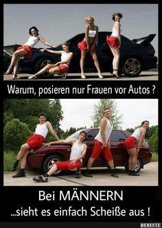 Warum, posieren nur Frauen vor Autos? | Lustige Bilder, Sprüche, Witze, echt lustig