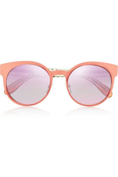 MARC BY MARC JACOBS Round-frame metal and acetate mirrored sunglasses $120