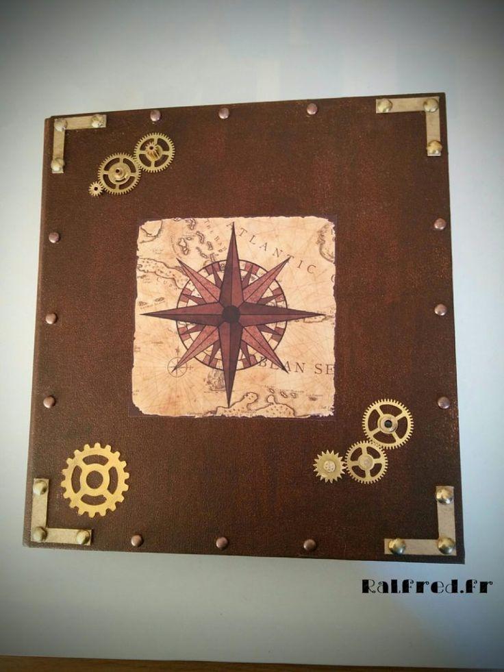Mon livre des secrets - personnalisation d'un classeur dans un style #Steampunk