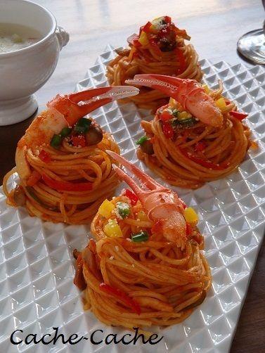 彩り野菜ときのこ、かに爪のナポリタン by カシュカシュさん | レシピ ...