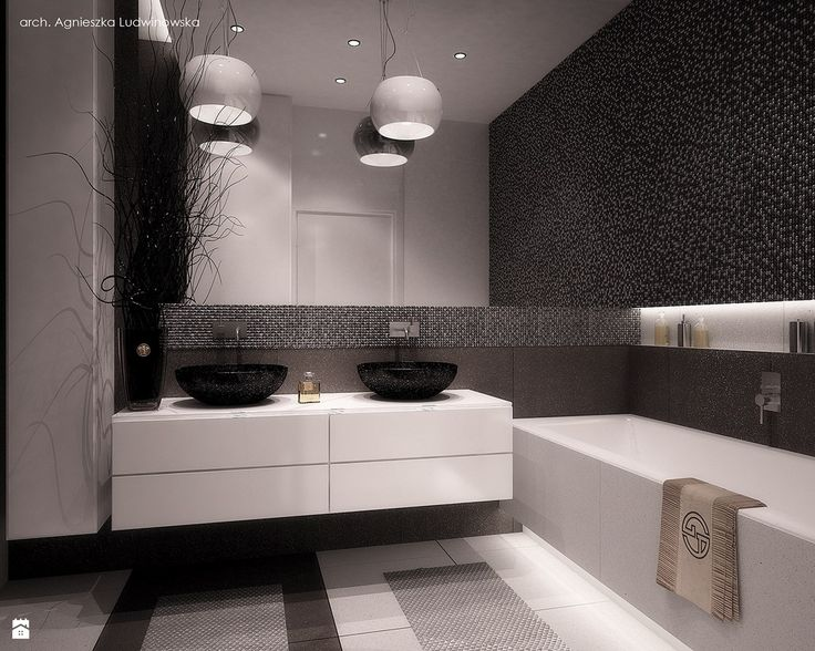 Monochromatyczna łazienka - zdjęcie od Ludwinowska Studio Architektury - Łazienka - Styl Minimalistyczny - Ludwinowska Studio Architektury