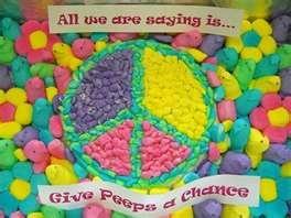 .Peep Fun, Easter Peep, Peep Show, Peacelov Hippie, Peep Art, Peace Signs, Fun Stuff, Chances Peep, Modern Peacelov