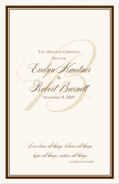 The  Best Wedding Program Samples Ideas On   Wedding