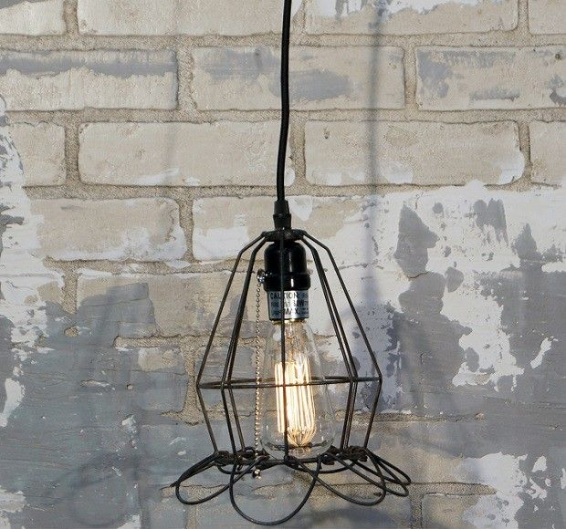 Cage pendant light 25 pinterest cage pendant light industrial pendant lighting wire pendant lighting mozeypictures Images