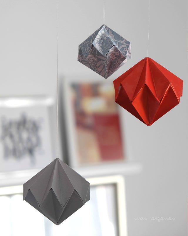 Origami Diamanten | Faltanleitung | was eigenes Blog