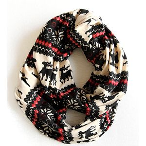 The Nordic Scarf, Nordic Scarf by Northernly. Christmas Scarf, Deer Scarf Available on www.shopnorthernly.com