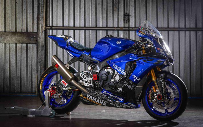 Download imagens A Yamaha YZF-R1, 4k, 2017 motos, sportbikes, A Yamaha gmt94 equipe, Yamaha