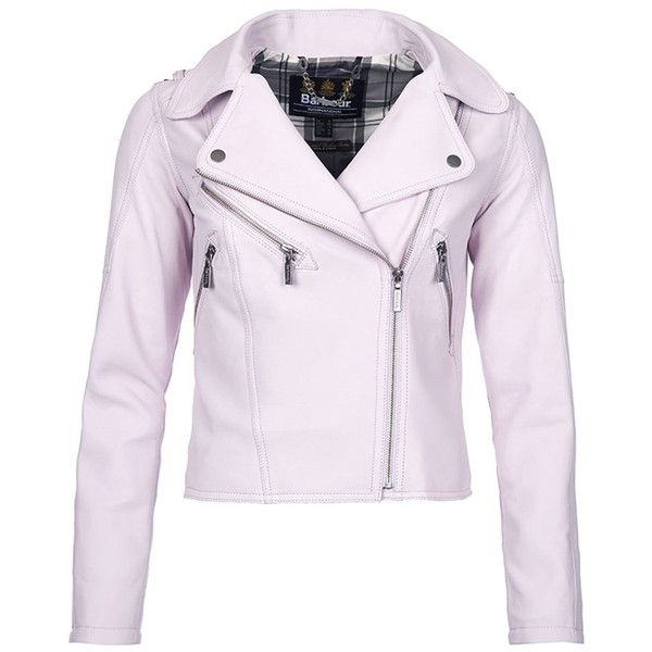 Women's Barbour International Gaverpin Leather Jacket - Amethyst ($835) ❤ liked on Polyvore featuring outerwear, jackets, leather biker jacket, genuine leather jackets, genuine leather biker jacket, fitted moto jacket and barbour international jacket