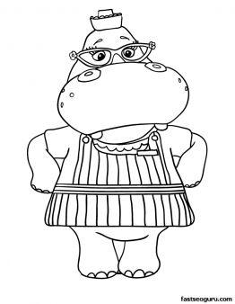 printable hallie the hippo doc mcstuffins coloring pages printable coloring pages for kids
