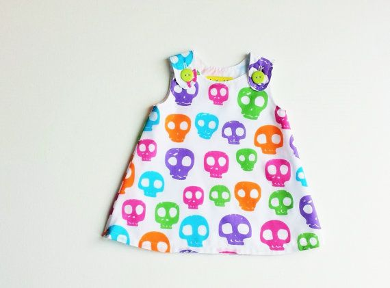 Goth Baby Candy Skulls Punk Inspired White by BubbalubzBabyWear
