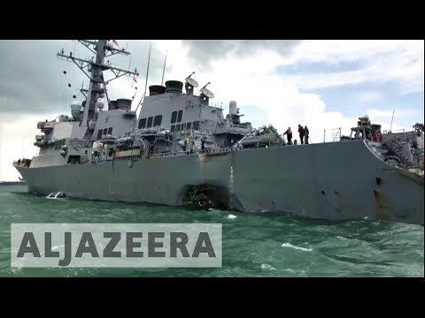08/21/2017 - Ten missing after USS McCain collides with oil tanker near Strait of Malacca - YouTube...wonder how they're going to keep explaining all this away... it's crazy.