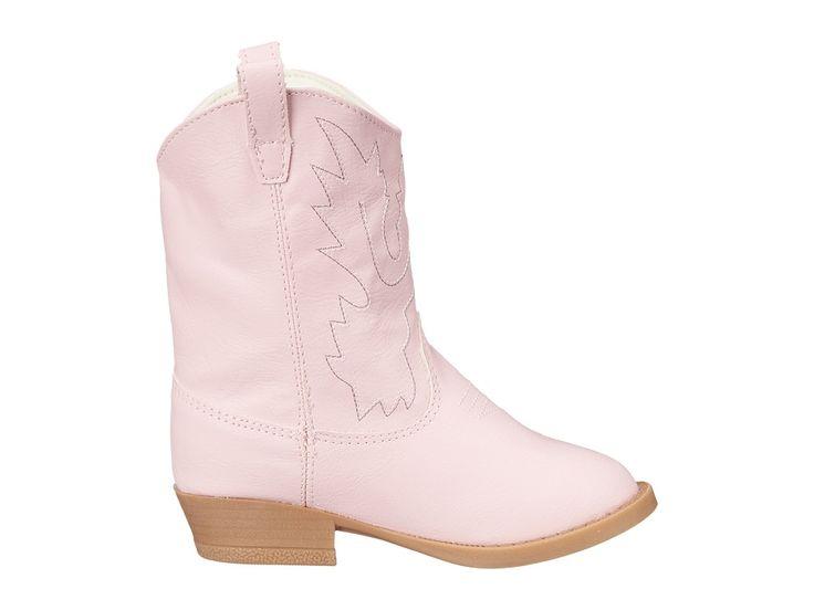 Baby Deer Western Boot (Infant/Toddler/Little Kid) Cowboy Boots Pink