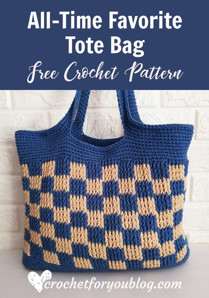 All Time Favorite Tote Bag Free Crochet Pattern Crochet Bag