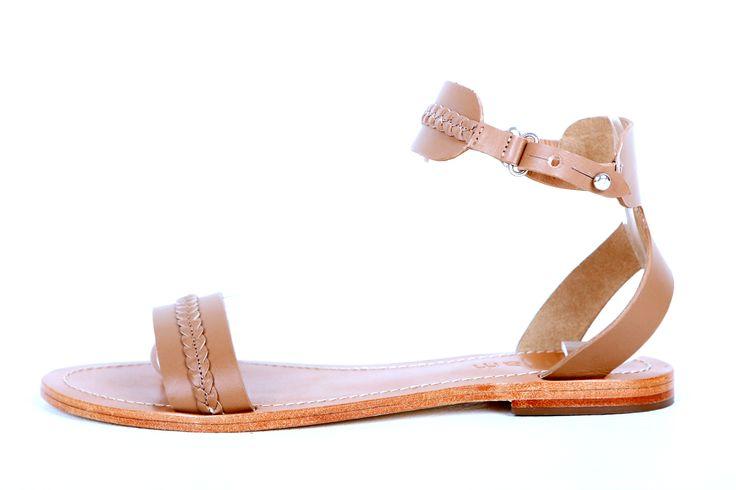 Zoe tan leather ankle strap sandal RRP $119.00 sizes 35 - 42 www.jamjam.com.au #sandals #shoes #footwear #ladiesshoes #leathershoes #leathersandals