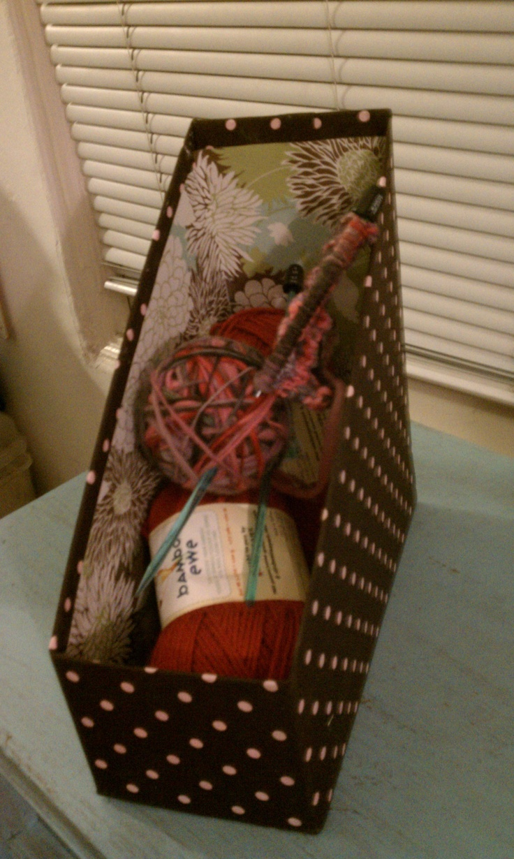 Scrapbook ideas recycled - Magazine Holder Made From Recycled Cardboard Boxes The Kitty Litter Came In Feline Pine