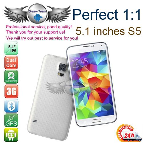 Free shipping cell phones 5.1 inch Galaxy S5 i9600 phone mtk6592 octa core 1.7GHz 2GB RAM 16.0 MP Android 4.4 Kitkat 3g GPS WIFI-in Mobile P...