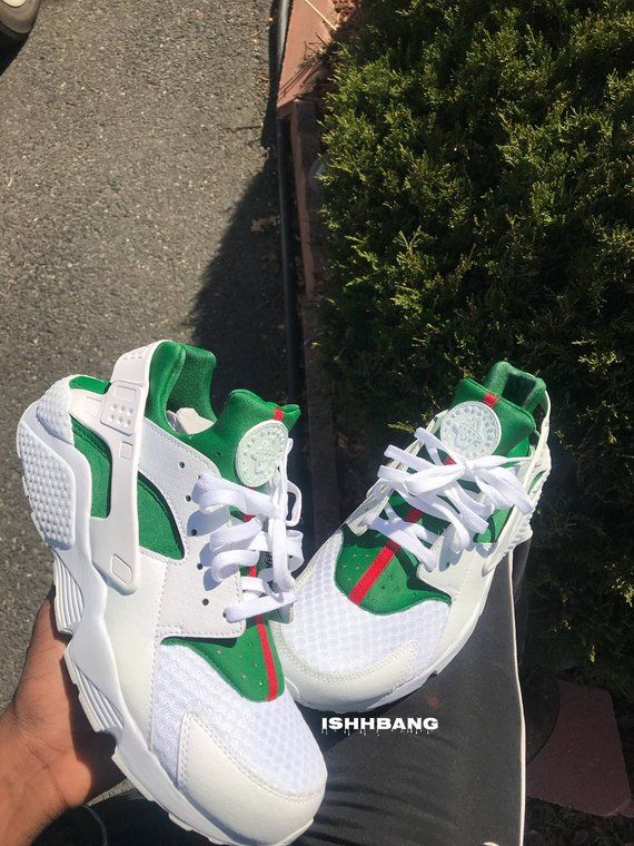 c96105f955959 Gucci Huarache Customized Triple White Custom Gucci Inspired Huaraches