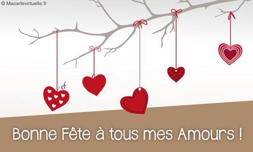 Carte Virtuelle Bonne Fête à tous mes amours !