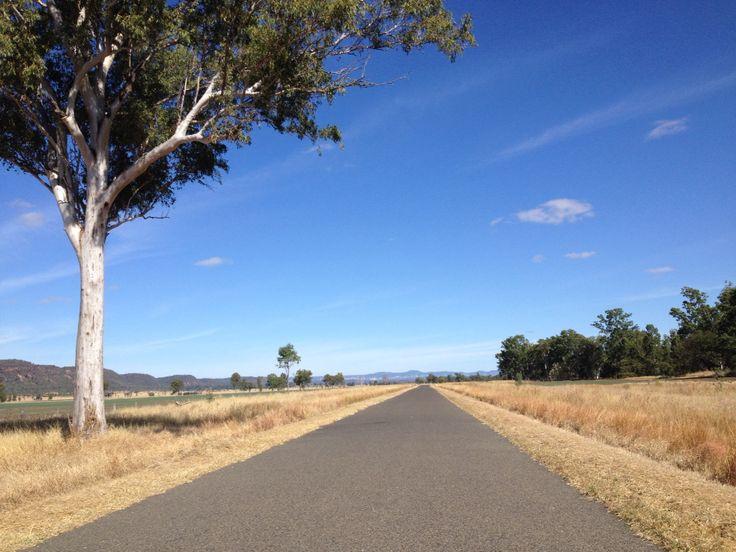 Road to Canarvon Gorge.Autumn in Queensland.