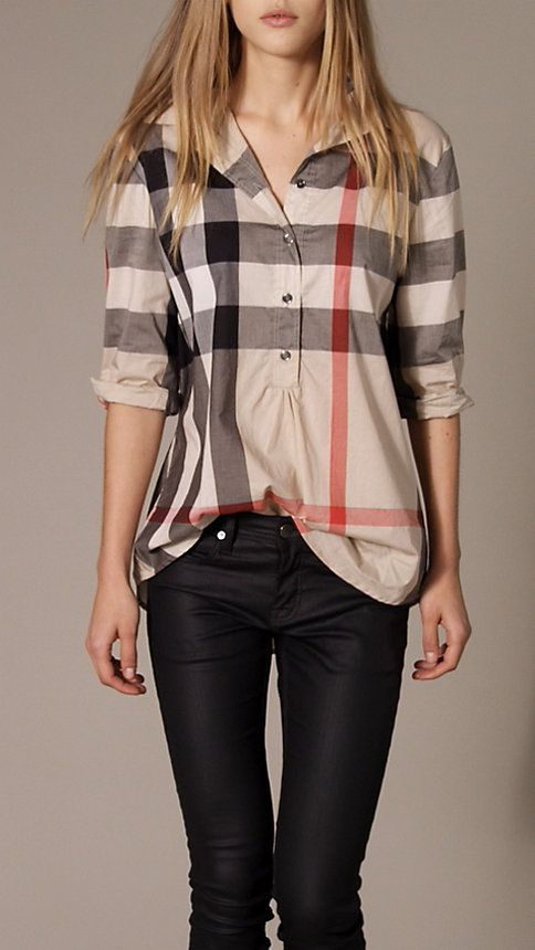 Check Tunic Shirt | Burberry