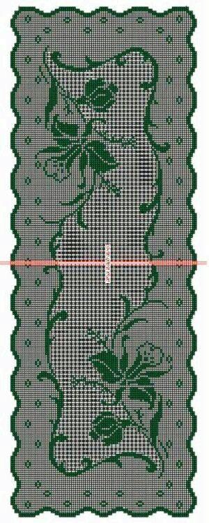 Η σκέψη μου είναι να σχεδιαστεί πανω σε μαύρο καμβά και κατόπιν να κεντήσουμε μονον το πράσινο σκίτσο σε όποιο χρώμα μας ταιριάζει.Ενω το εσωτερικό φόντο να γεμίσει με μεγάλες σταυροβελονιές εναλασσόμενες 4Χ4 κουτάκια.