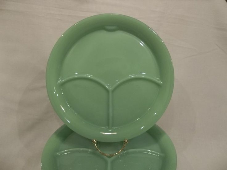 Fire King Jadeite RARE Restaurant Ware Divided Grill Plate