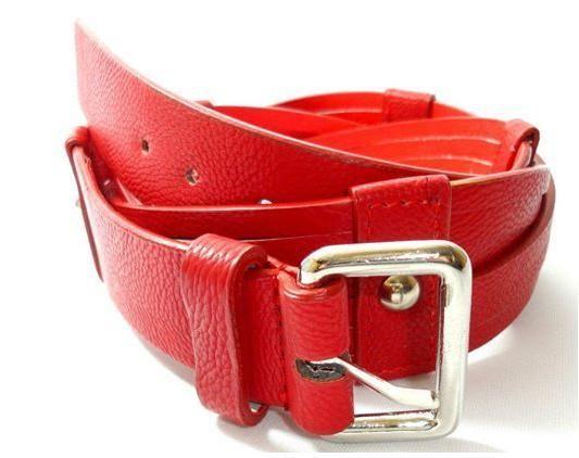 Cinto Vermelho com Fivela Prata - Dáli Acessórios — Dáli Acessórios