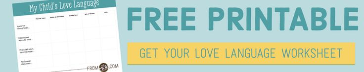 DO YOU KNOW YOUR SON'S LOVE LANGUAGE? | FREE PRINTABLE WORKSHEET! — The MOB Society