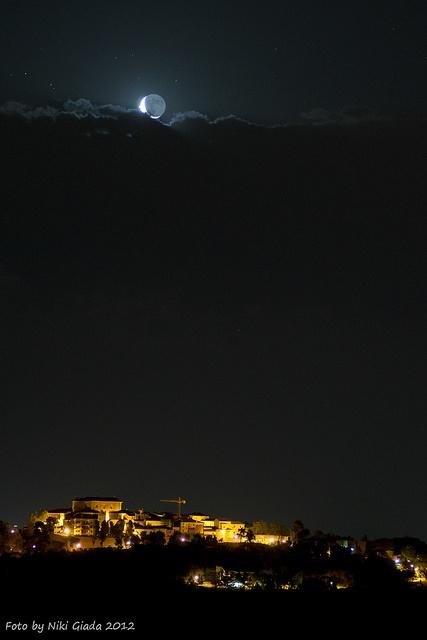 Caption: Clouds nearly covered the view in Mombaroccio, Marche, Italy. Credit: Niki Giada.