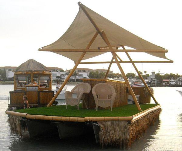 tiki bar pontoon boat | Pontiki Boat Cruises and Custom Pontoon Boats - Jupiter Florida