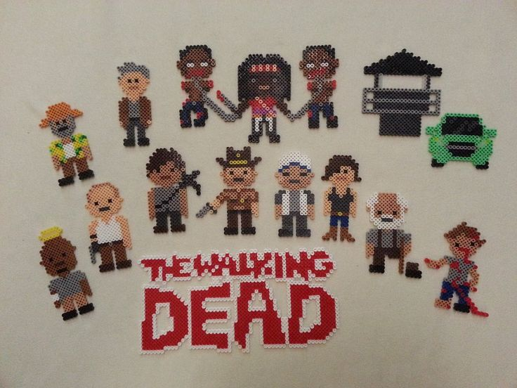 [Spoilers] I was excited for the finale so made some bead sprites for some of my favorite characters. Contains some spoilers.