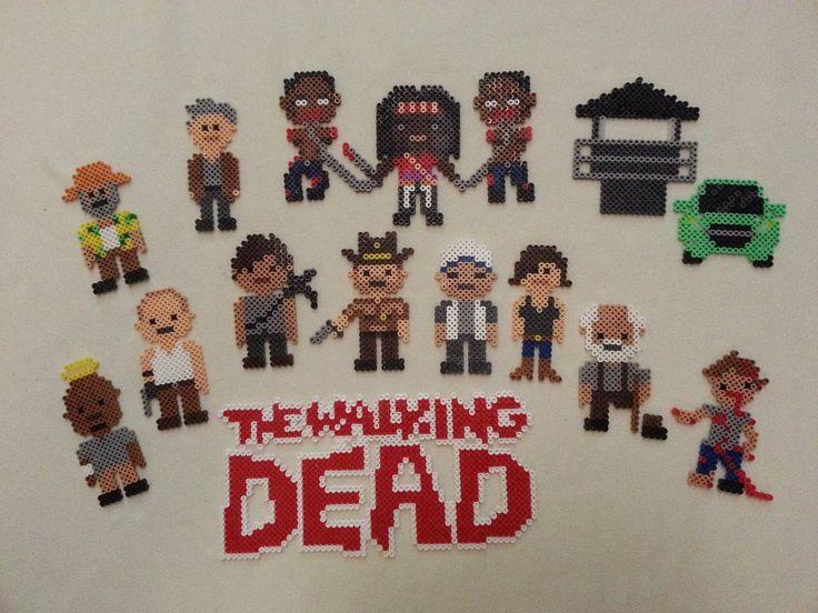 The Walking Dead perler bead sprites