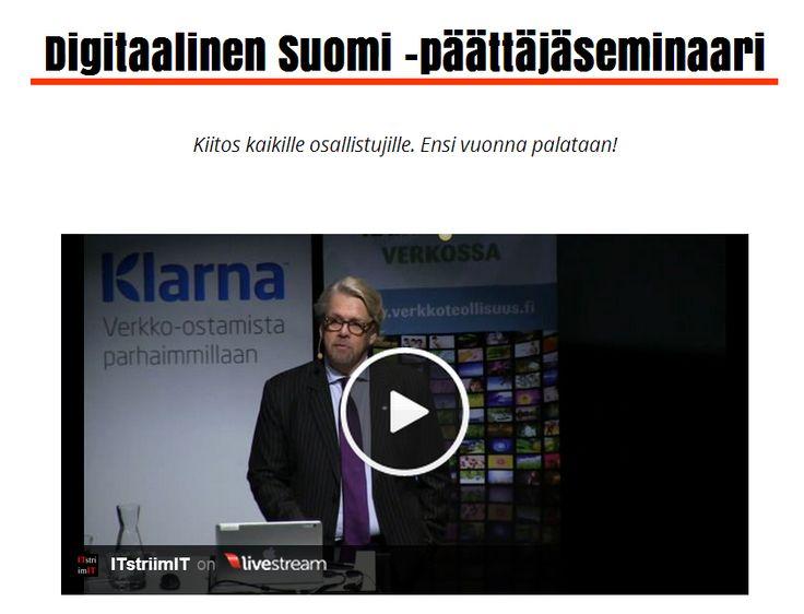 Digibarometri 2014 -julkistuksen videosuoratoisto