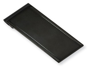 Men's Black Plated Stainless Steel Dual Finish Money Clip Holder Available Exclusively at Gemologica.com