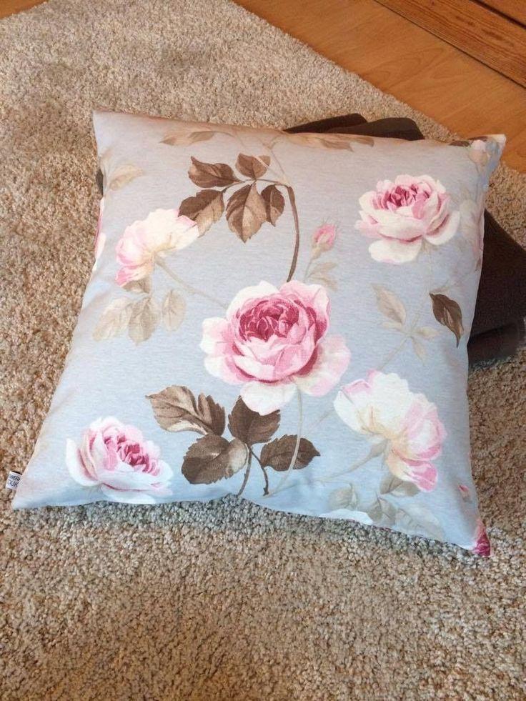 Kissenbezug 50x50 pastell blau rosa Rosen Shabby Vintage Kissenhülle ohne Kissen in Möbel & Wohnen, Dekoration, Dekokissen | eBay!