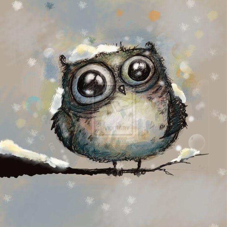 snow owl by Main Cui
