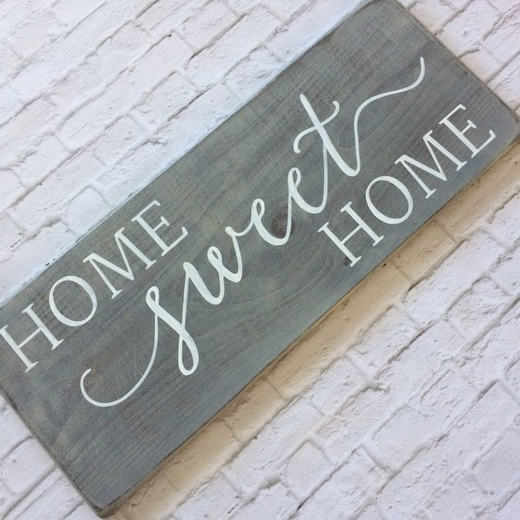 Vintage Wooden Signs Home Decor: Home Sweet Home Wood Sign // Rustic Wood Sign // Rustic