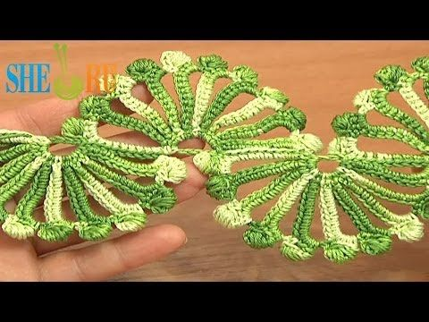 ▶ Double Sided Large Shells Crochet Lace Tutorial 10 Crochet Shell Motifs - YouTube