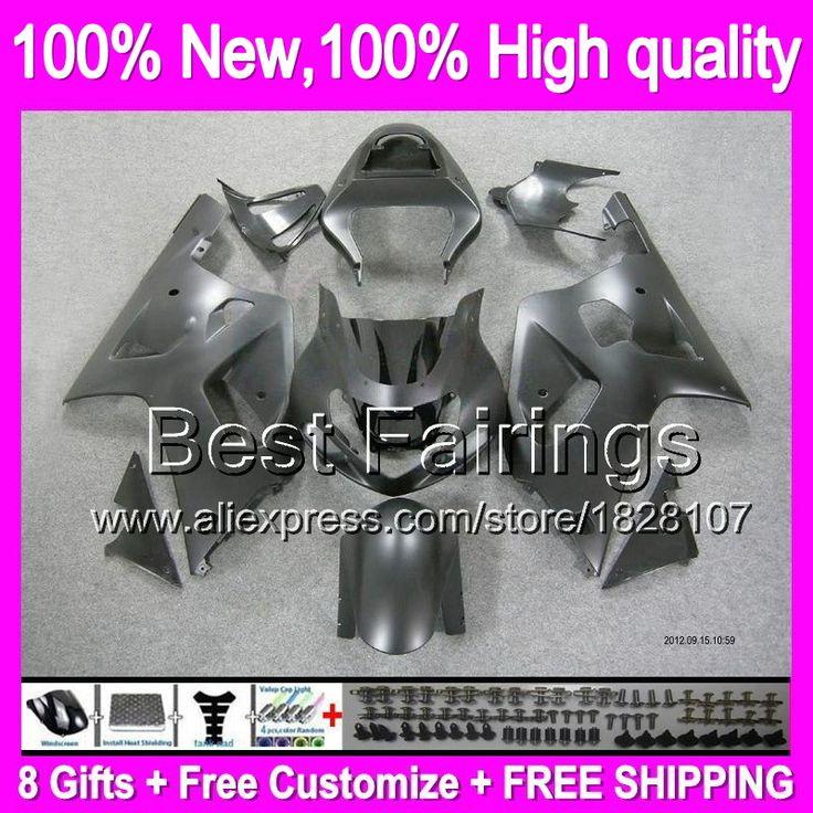 Fairing  For SUZUKI GSX R750 01 02 03 Matte black GSXR750 1B860 GSXR600 K1 R600 GSXR 600 750 2001 2002 2003 +Decal Flat black