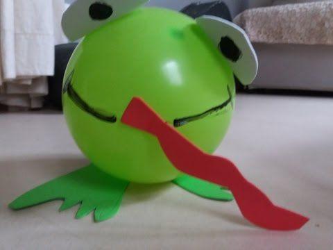Faire une grenouille avec un ballon
