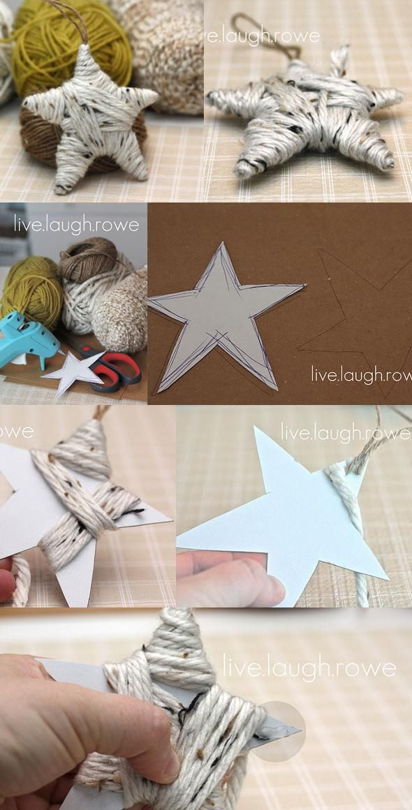 Wrapped Star Ornament, but use twine!