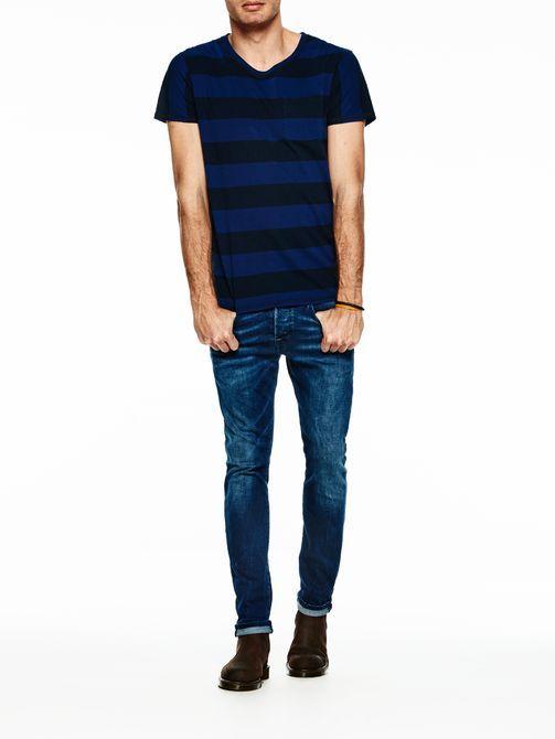 Yarn-dyed gestreept T-shirt
