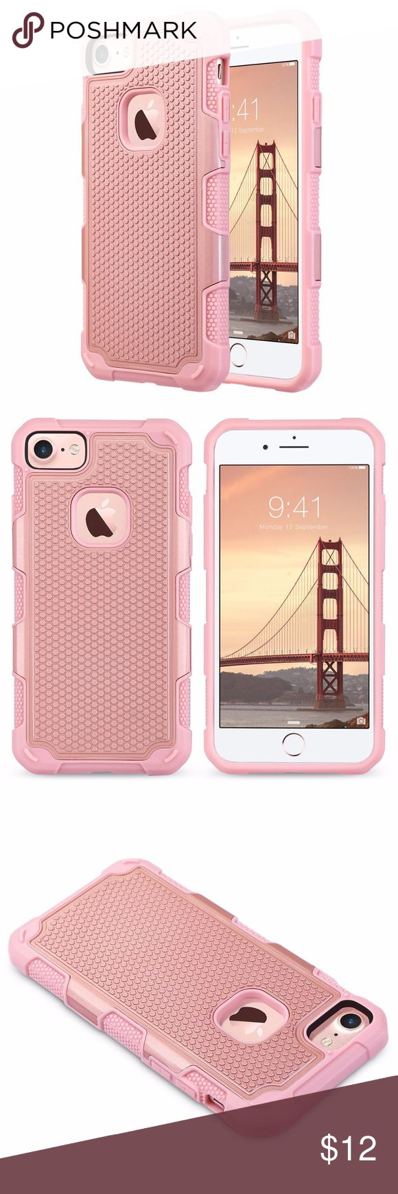 iPhone 7/8 Heavy Duty Rose Gold Shockproof Cover For iPhone 7/iPhone 8 case compatible with Apple iPhone 7/iPhone 8 4.7 inch 2016/2017 Release, will not fit iPhone 7/8 Plus 5.5 inch iPhone 7/8 case, made from High quality soft Rubber/TPU Inside and durable hard PC Plastic outside,light weight and easy to install. Hybrid Rugged Shockproof Hard Protective Case Cover Rose Gold ULAK Accessories Phone Cases