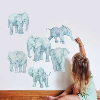 Our Elephant Wall Decal Kit is perfect for any room.The Kit includes 10 Assorted Elephants made from our Watercolor illustrations.